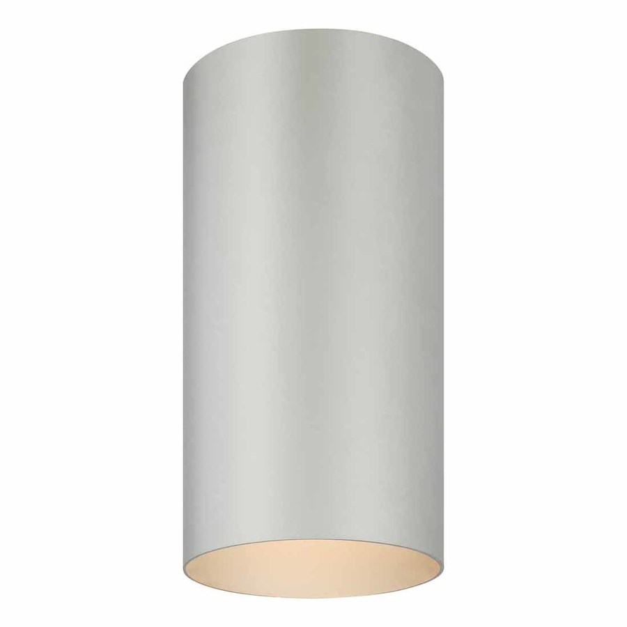 Waucoma 6-in W Silver Grey Outdoor Flush-Mount Light