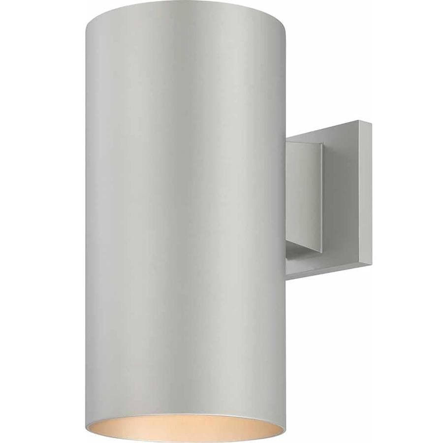 Shop Waucoma 12-in H Silver Grey Outdoor Wall Light at Lowes.com