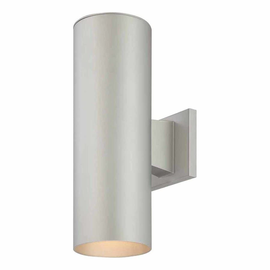 Shop Waucoma 14-in H Silver Grey Outdoor Wall Light at Lowes.com