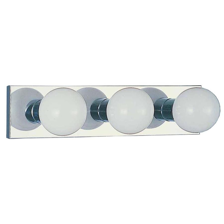 Houma 3-Light 4.5-in Chrome Vanity Light