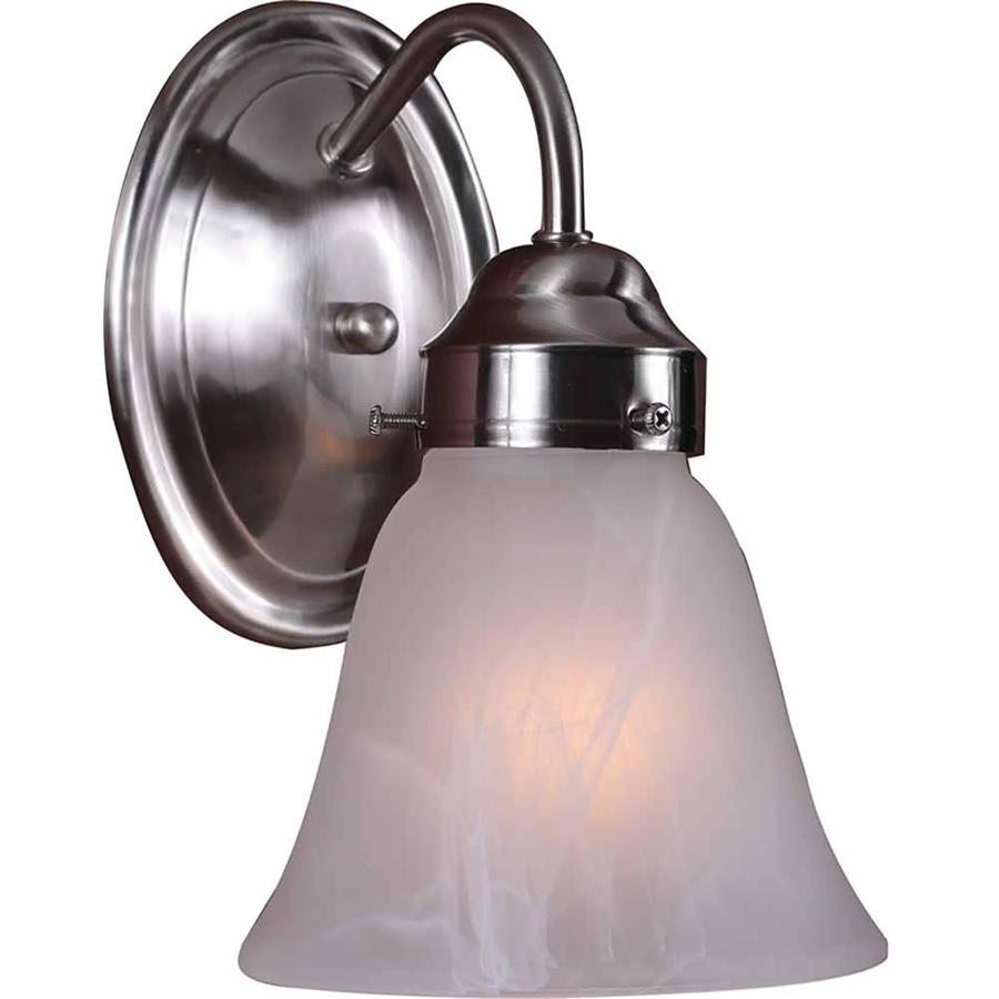Pierron 1-Light 8-in Brushed Nickel Vanity Light
