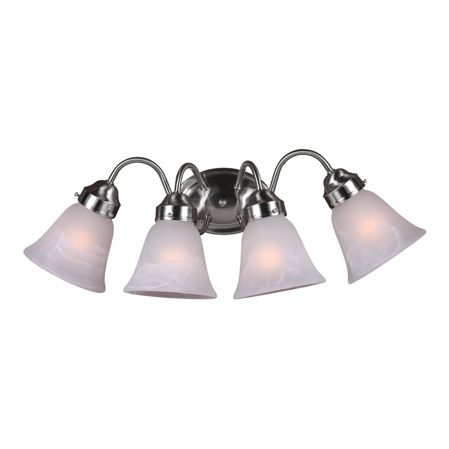 Pierron 4-Light 9-in Brushed Nickel Vanity Light