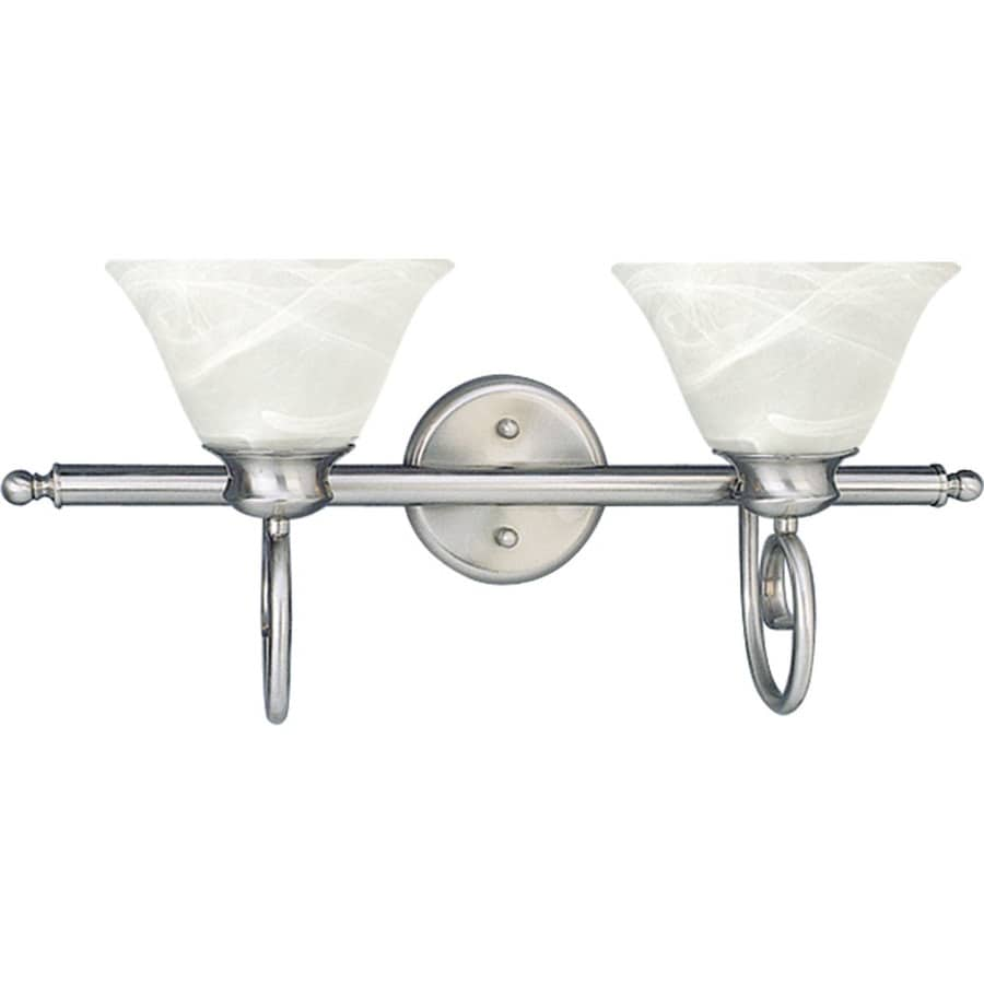 Archie 2-Light 10.75-in Brushed Nickel Vanity Light