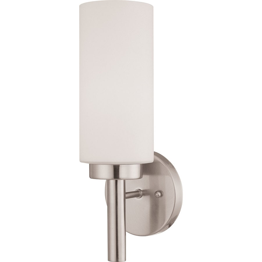 Shop Voyles 5 In W 1 Light Brushed Nickel Directional Wall Sconce At