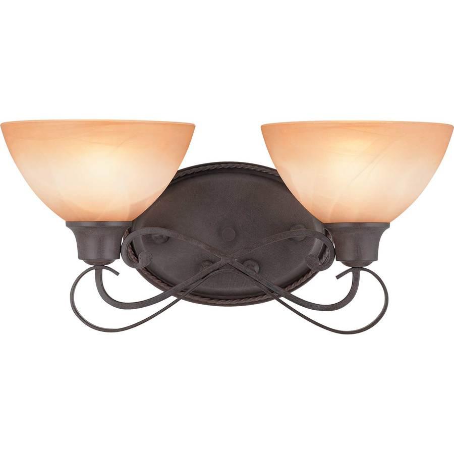 Haslett 2-Light 8.25-in Frontier Iron Vanity Light
