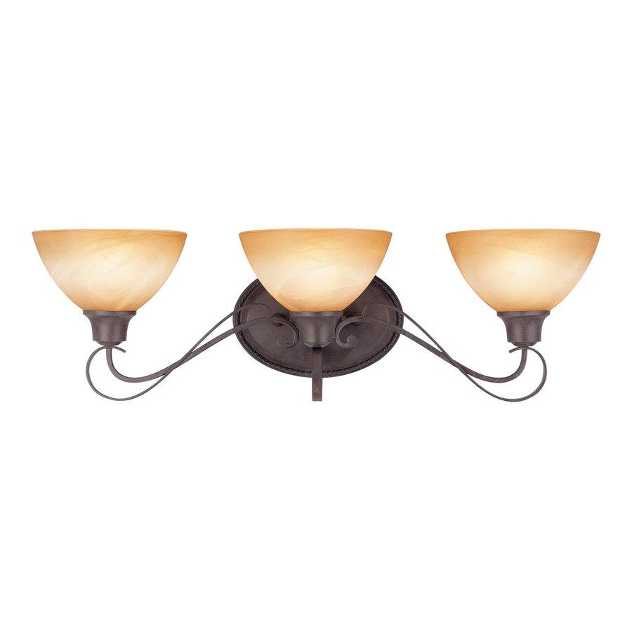 Haslett 3-Light 8.25-in Frontier Iron Vanity Light