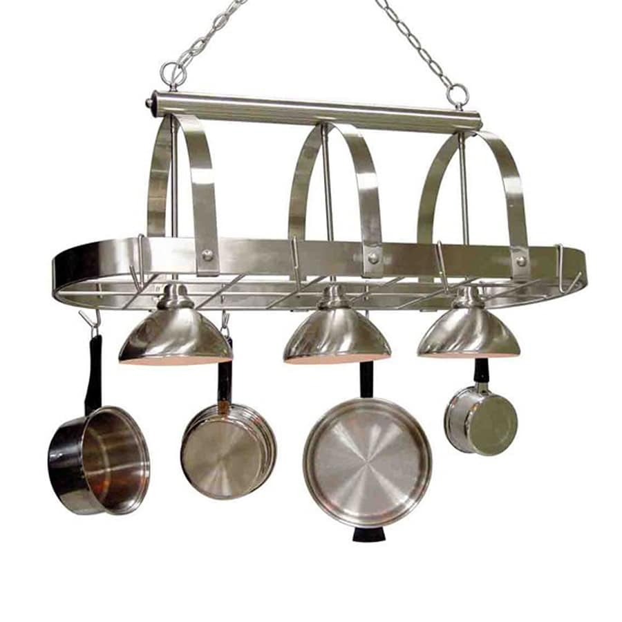 rack metal in housewares brown ceiling mounting itm hardware mounted conce x res concept square pot wood decorative
