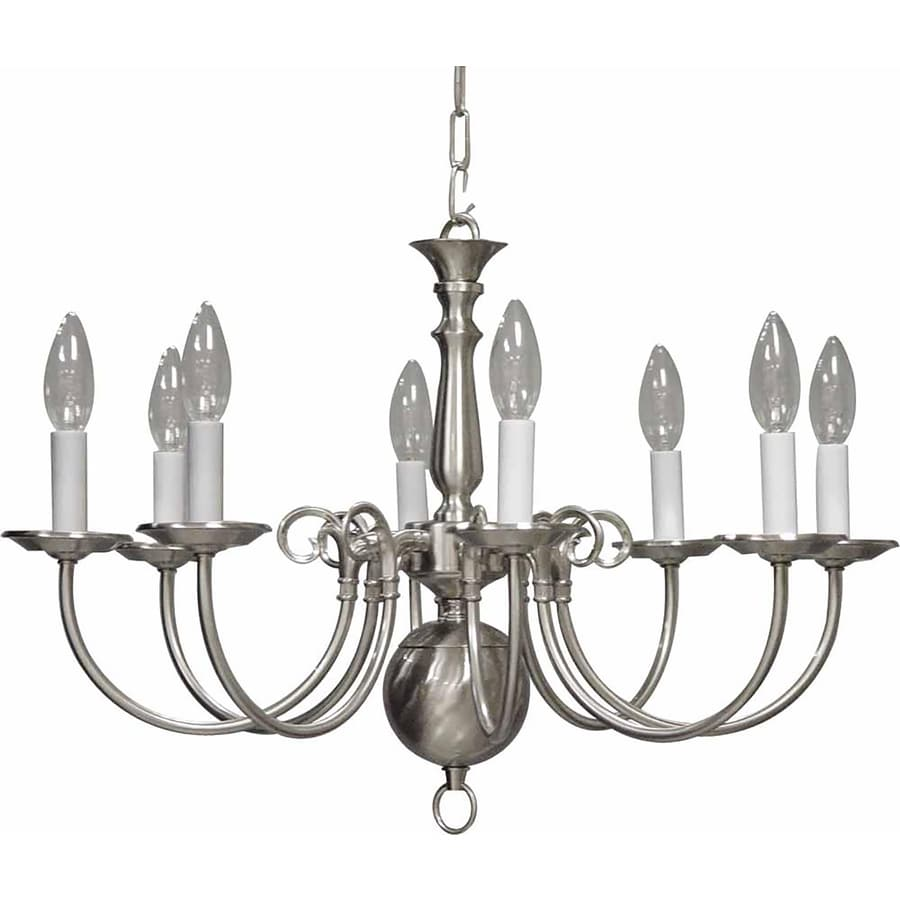 Raiford 23.5-in 8-Light Brushed Nickel Candle Chandelier