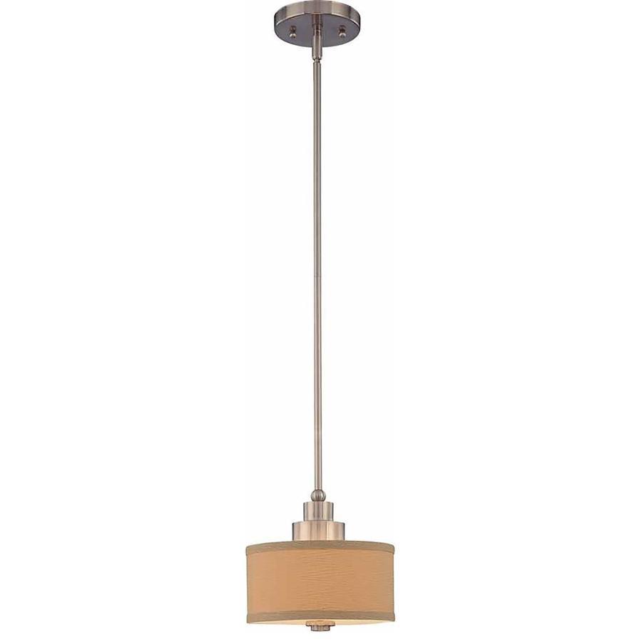 Gillham 8-in Brushed Nickel Single N/A Pendant