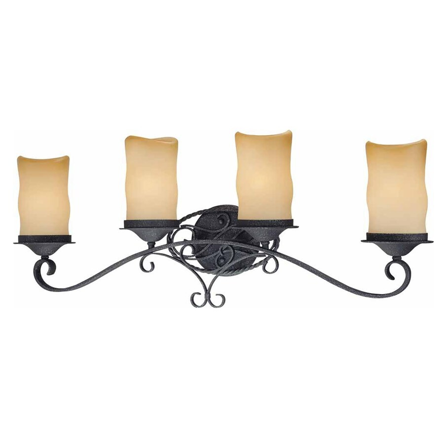 Tabor 4-Light 12.5-in Antique Iron Vanity Light