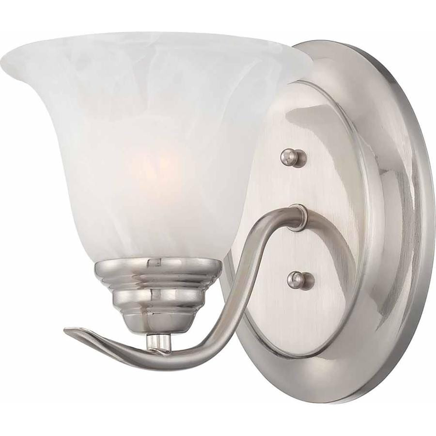 Ridlon 6.25-in W 1-Light Brushed Nickel Directional Wall Sconce