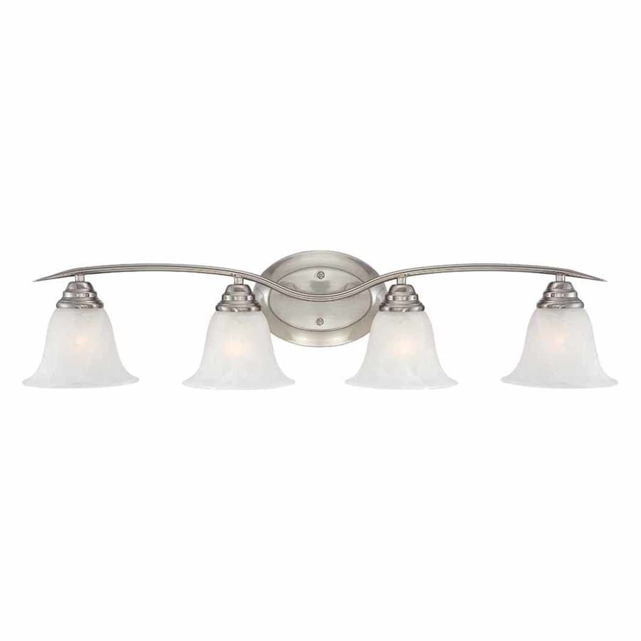 Sunray 4-Light 8.25-in Brushed Nickel Vanity Light
