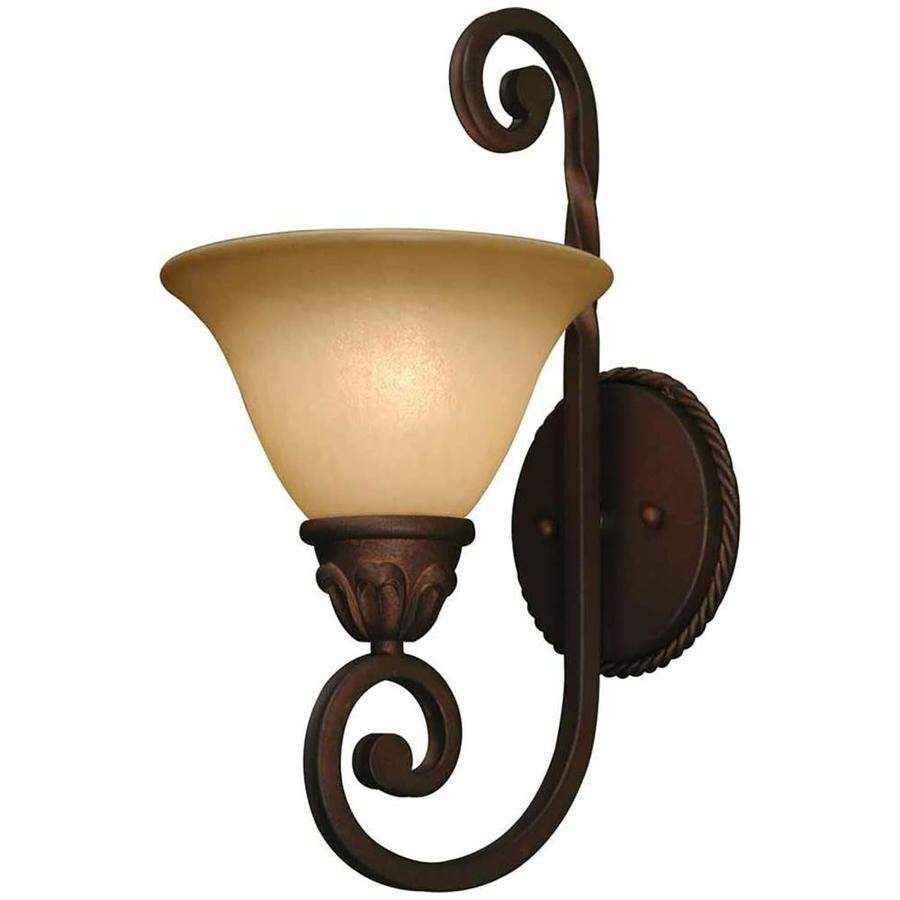 Wyocena 7-in W 1-Light Italian Dusk Directional Wall Sconce