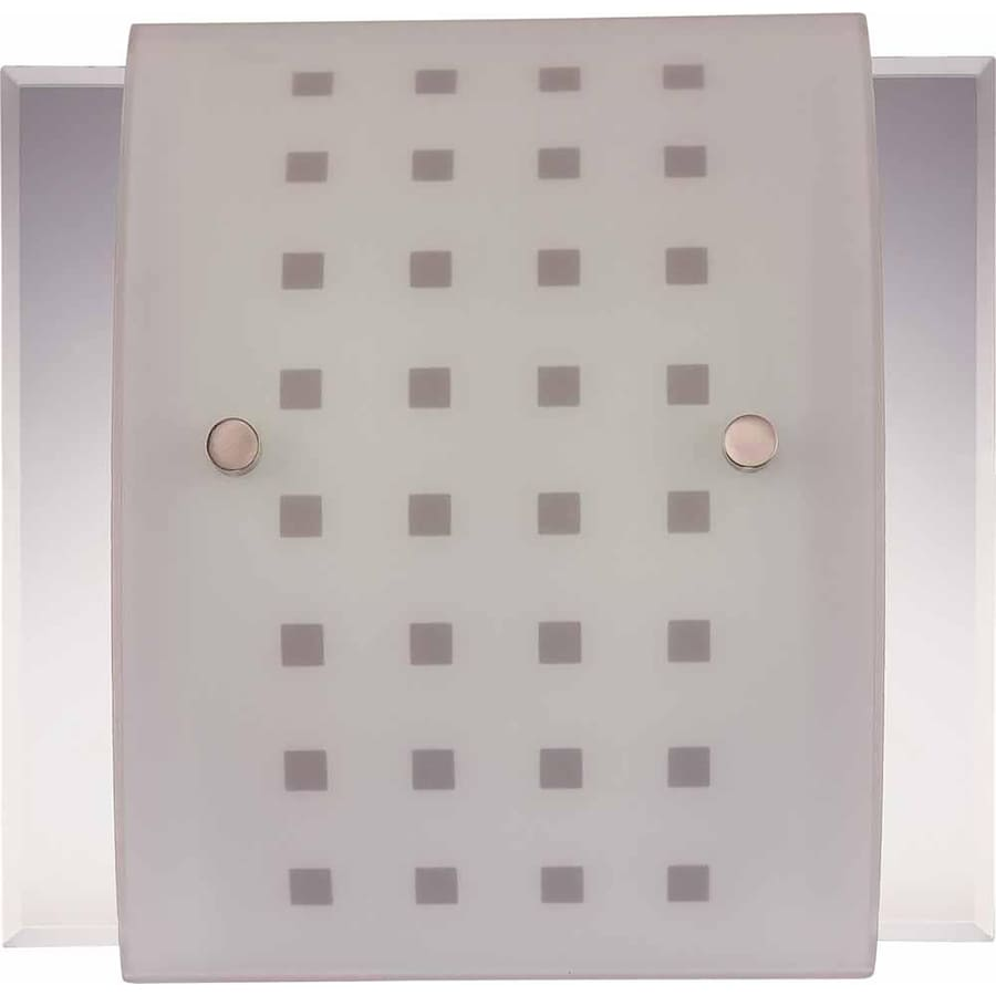 Cantril 12-in W 2-Light Brushed Nickel Directional Hardwired Wall Sconce