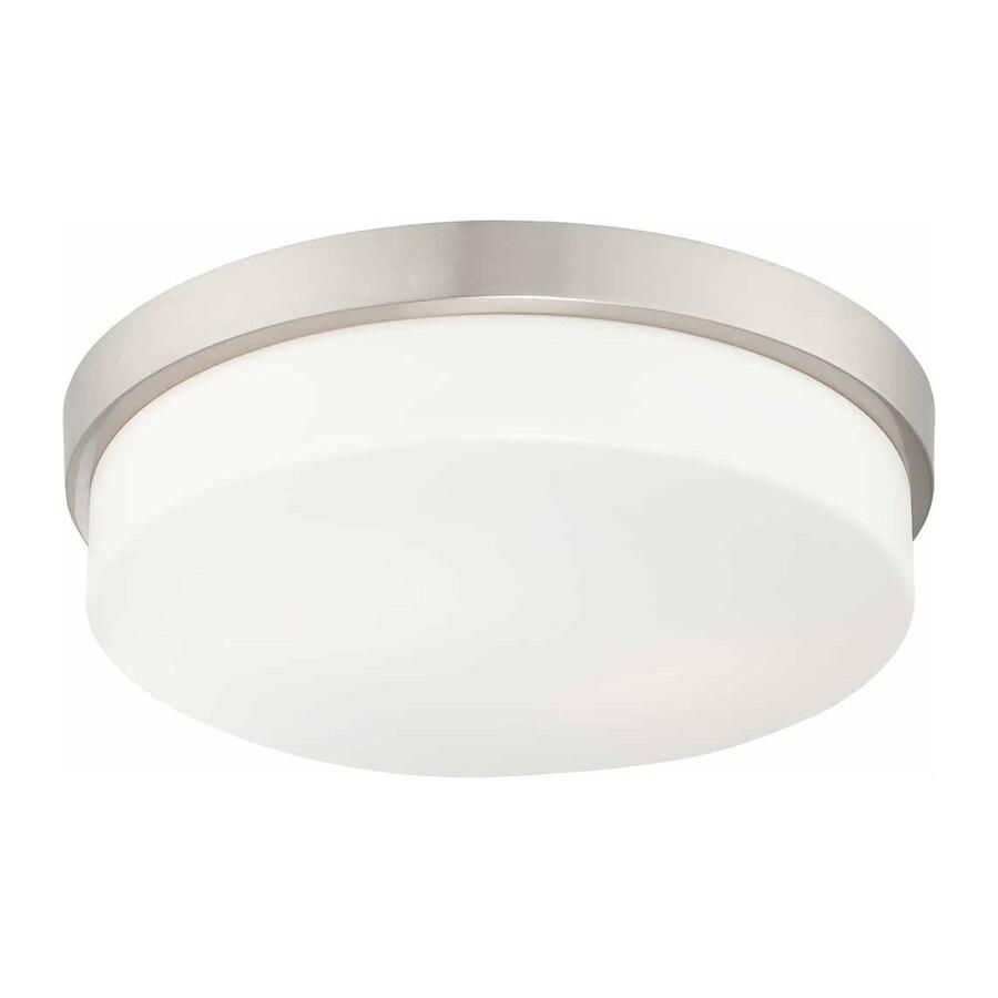 Goldsboro 11-in W Brushed Nickel Ceiling Flush Mount Light