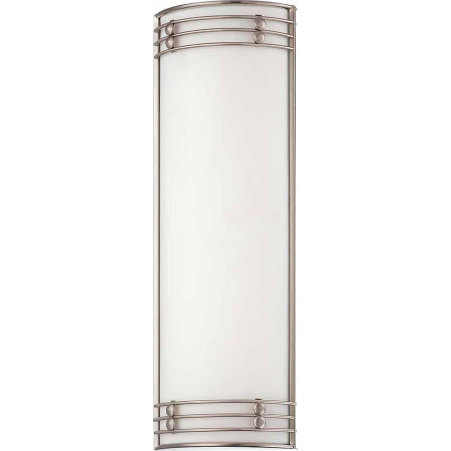 Landa 8.25-in W 2-Light Brushed Nickel Directional Wall Sconce