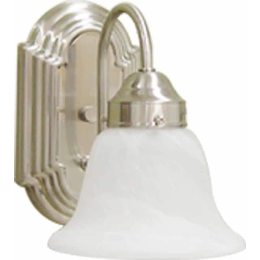 Lamonte 1-Light Brushed Nickel Vanity Light