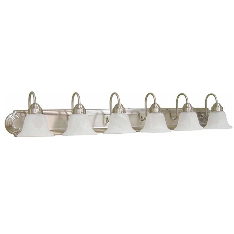 Lamonte 6-Light 8-in Brushed Nickel Vanity Light