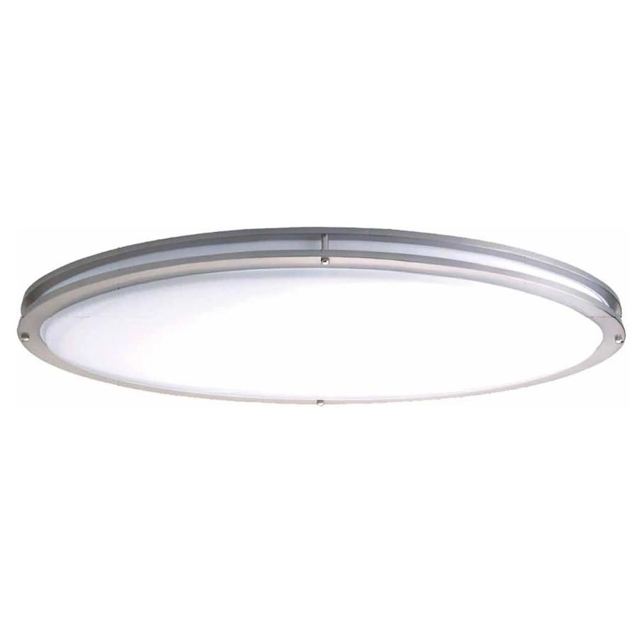 Hollins 13-in W Brushed Nickel Flush Mount Light