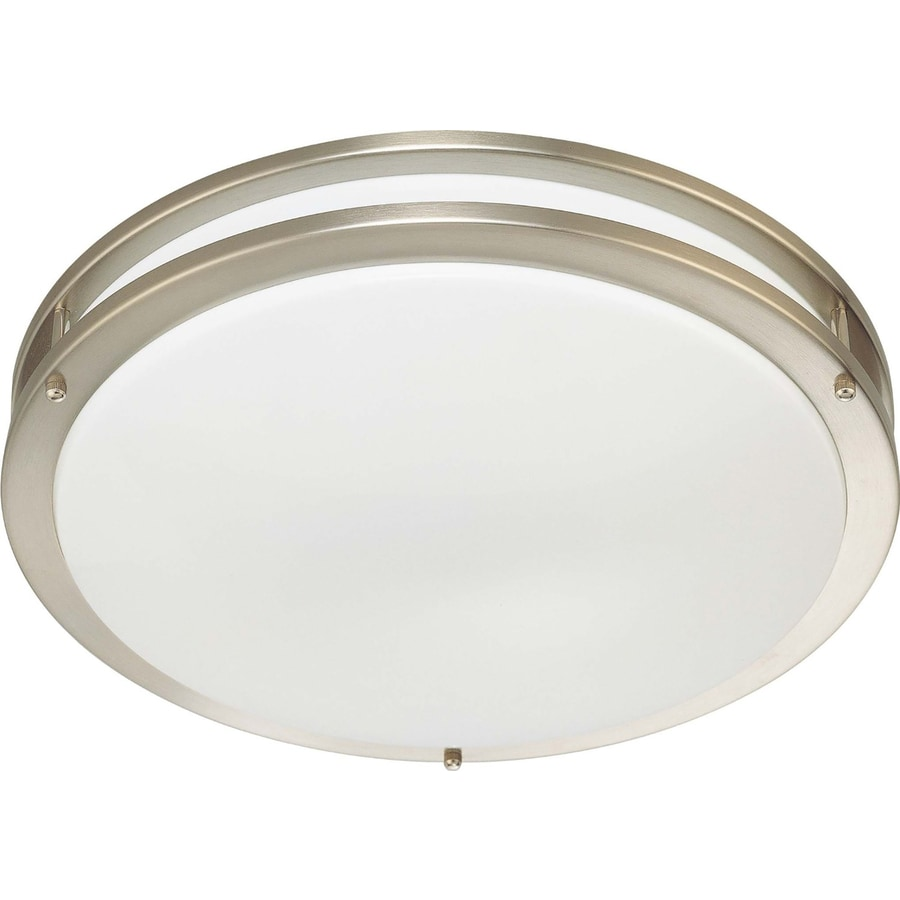 Hearne 17.75-in W Brushed Nickel Flush Mount Light