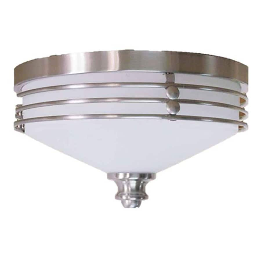 Arvilla 11-in W Brushed Nickel Standard Flush Mount Light