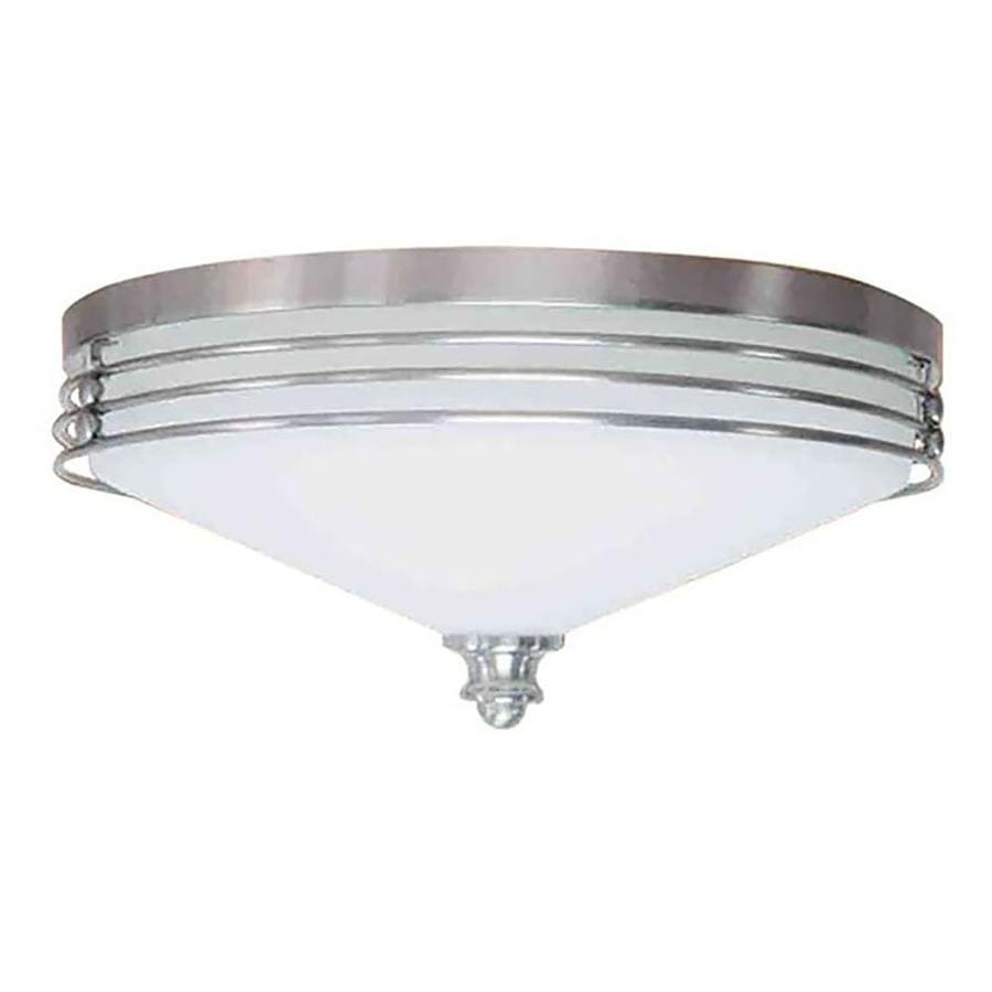 Arvilla 16-in W Brushed Nickel Flush Mount Light