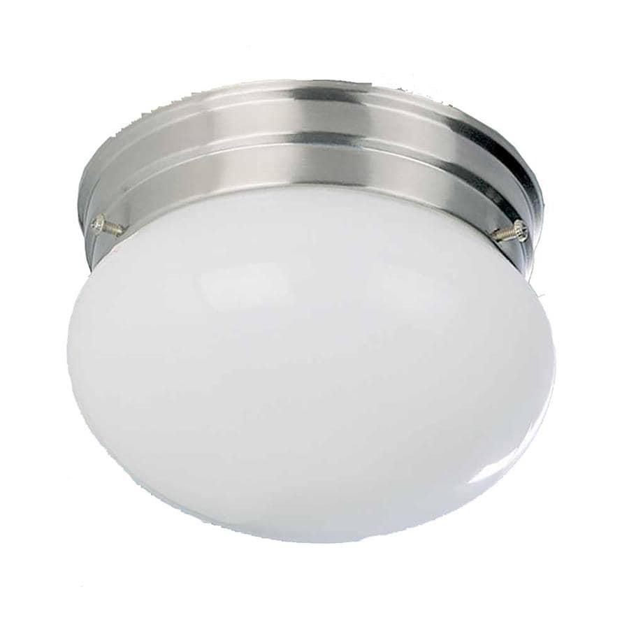Glynn 9-in W Brushed Nickel Flush Mount Light