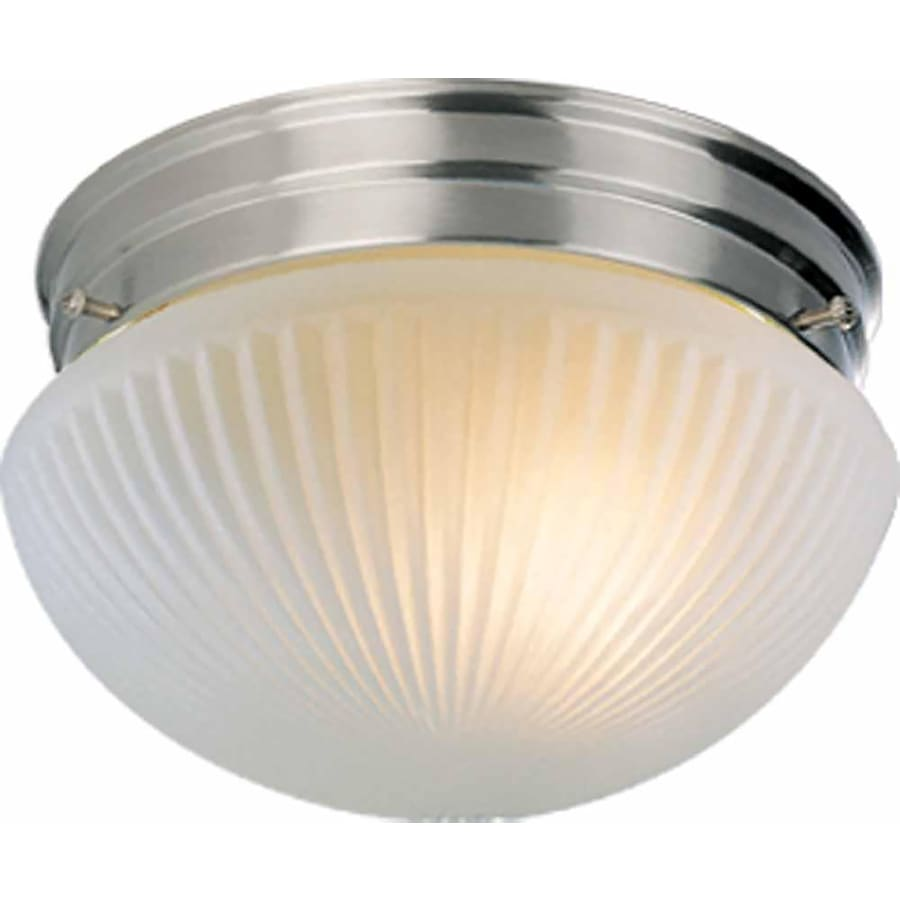 Bowden 9-in W Brushed Nickel Standard Flush Mount Light