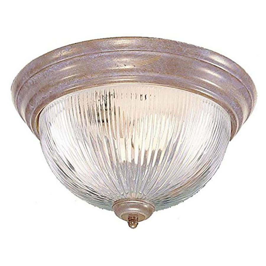 Amsden 13-in W Prairie Rock Standard Flush Mount Light