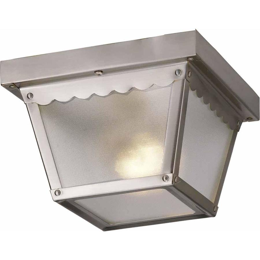 Cambria 7.5-in W Brushed Nickel Outdoor Flush-Mount Light