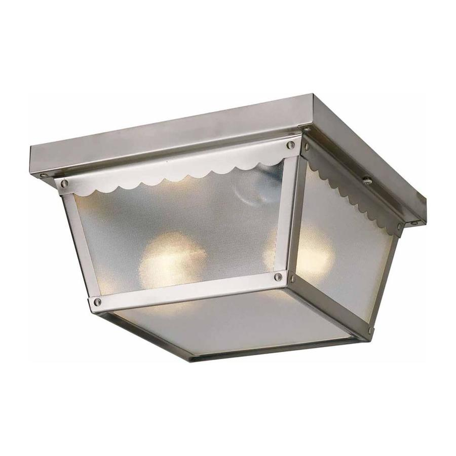 Shop Cambria 925 In W Brushed Nickel Outdoor Flush Mount