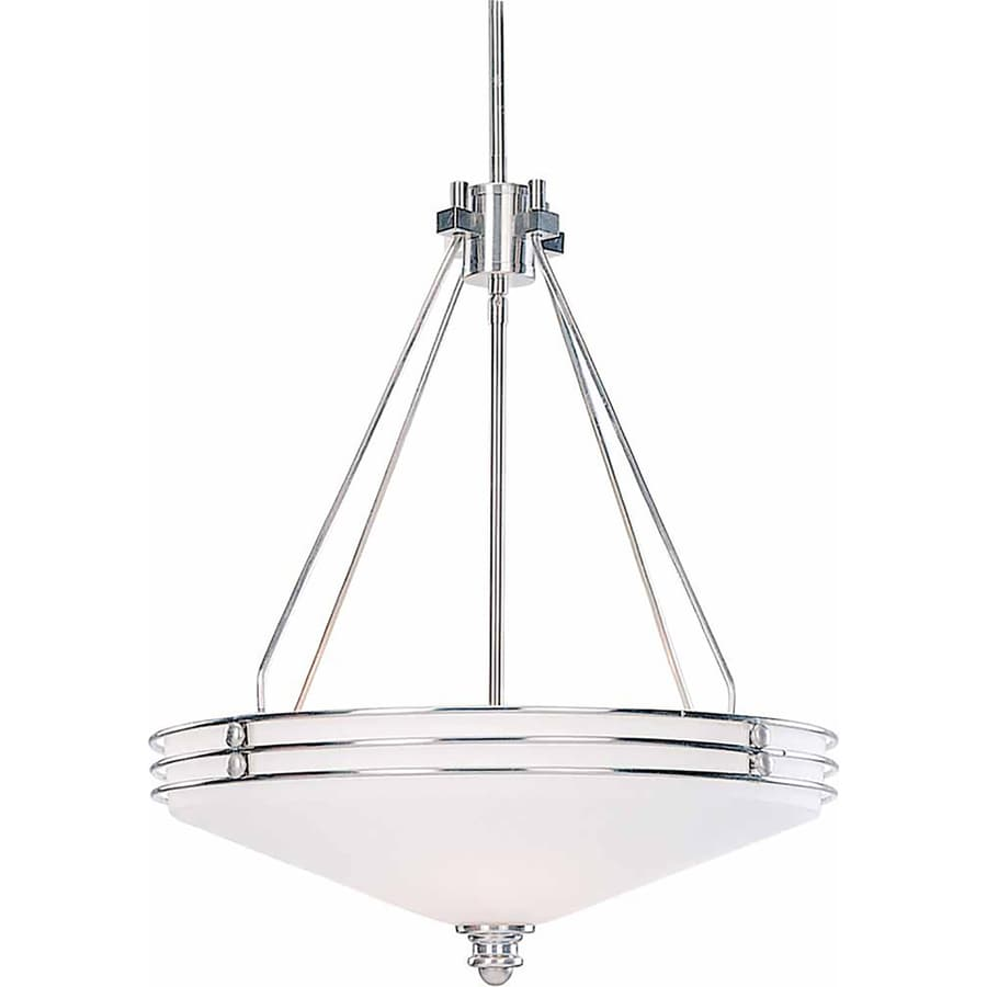 Arvilla 19.5-in Brushed Nickel Single N/A Pendant