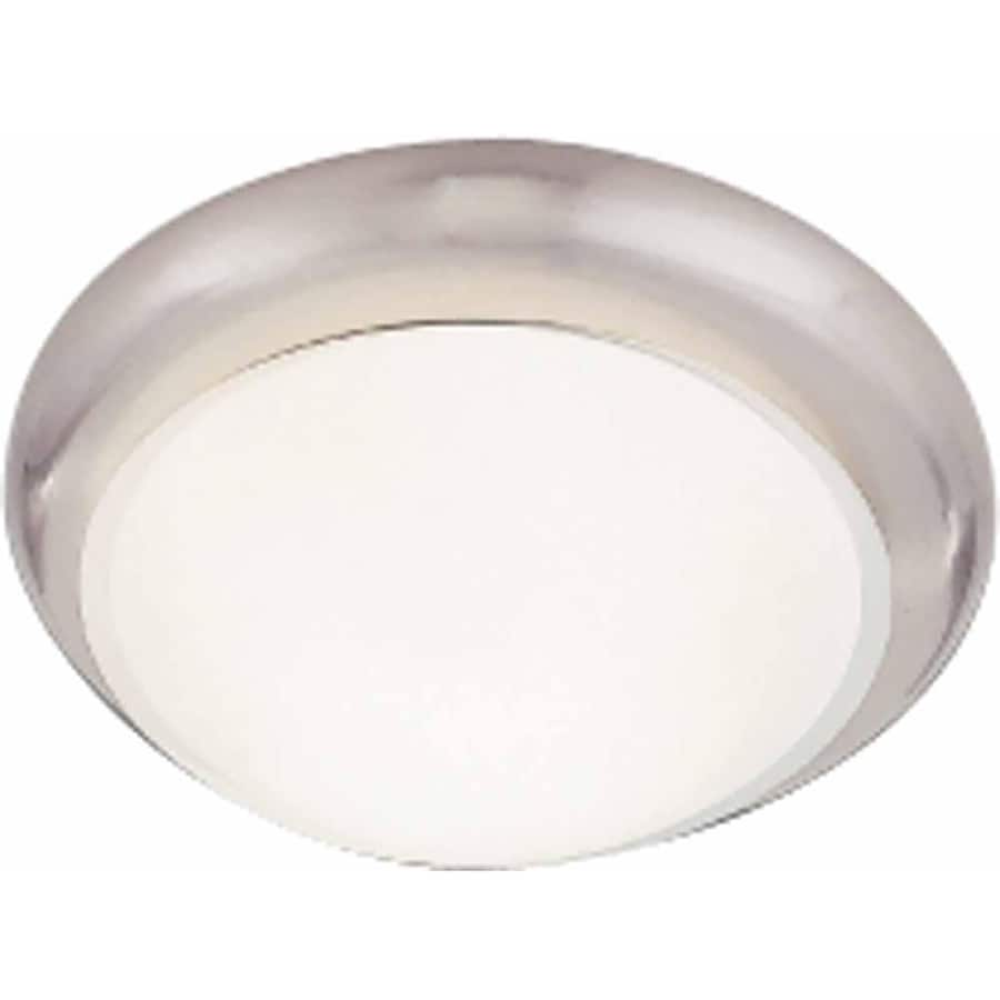 Seaview 11-in W Brushed Nickel Flush Mount Light
