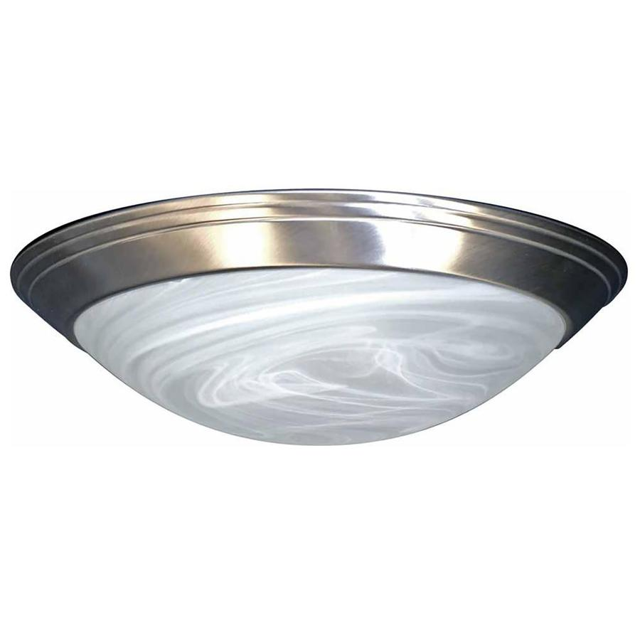 Keeler 12-in W Brushed Nickel Standard Flush Mount Light