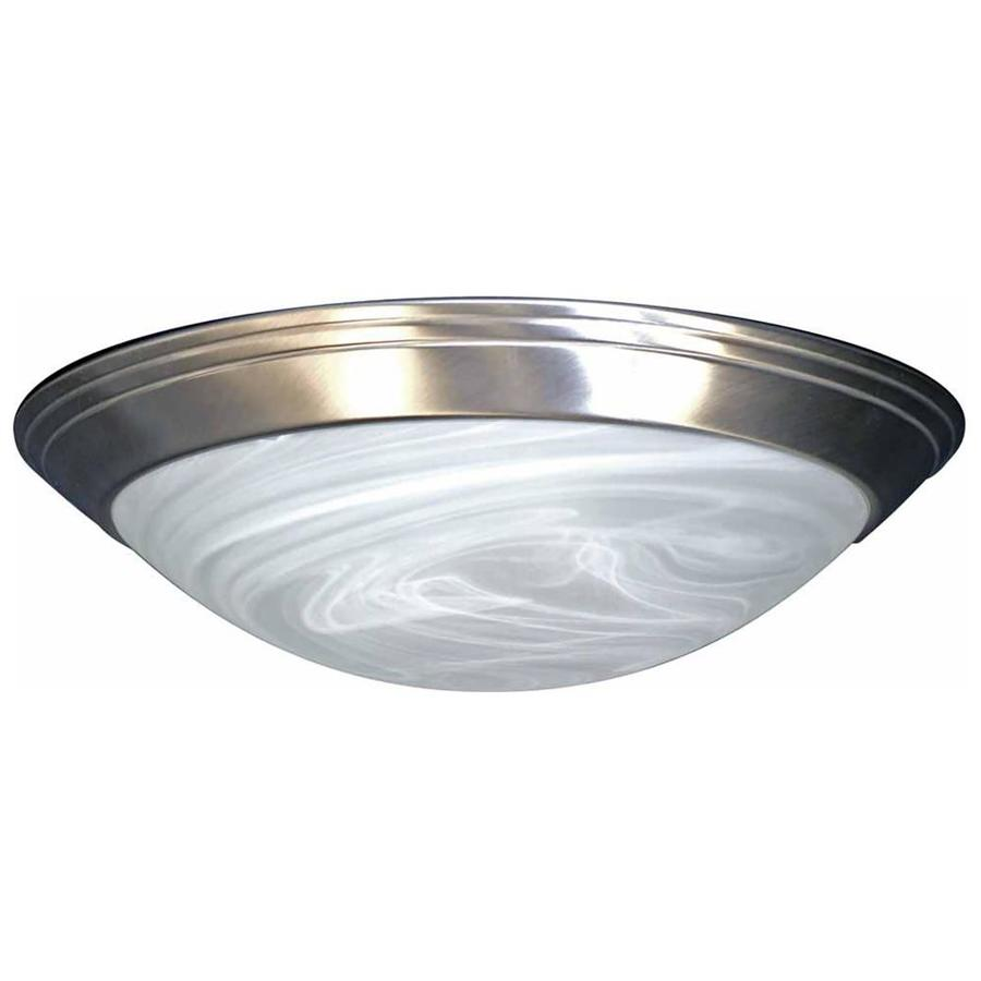 Keeler 14-in W Brushed Nickel Ceiling Flush Mount Light