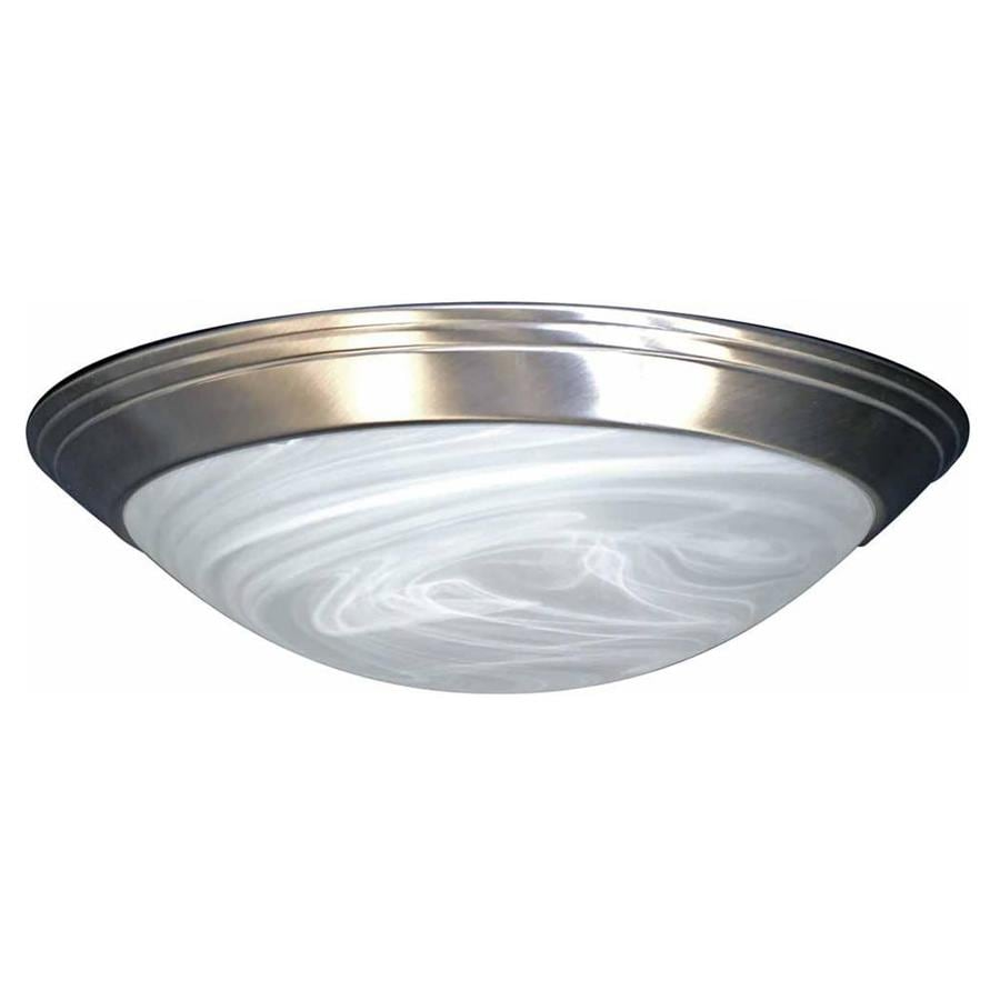 Keeler 16-in W Brushed Nickel Standard Flush Mount Light