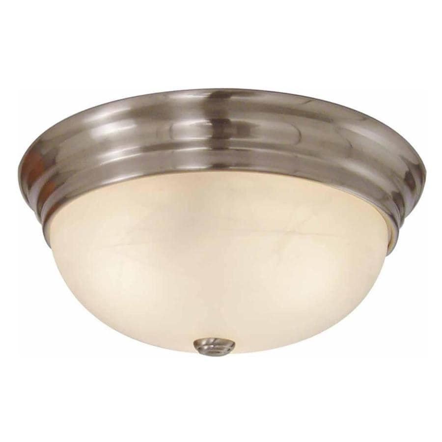Oreana 11-in W Brushed Nickel Ceiling Flush Mount Light
