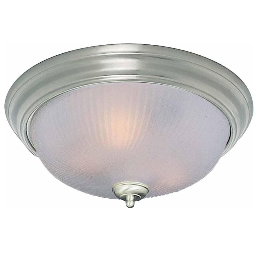 Bowden 11-in W Brushed Nickel Standard Flush Mount Light
