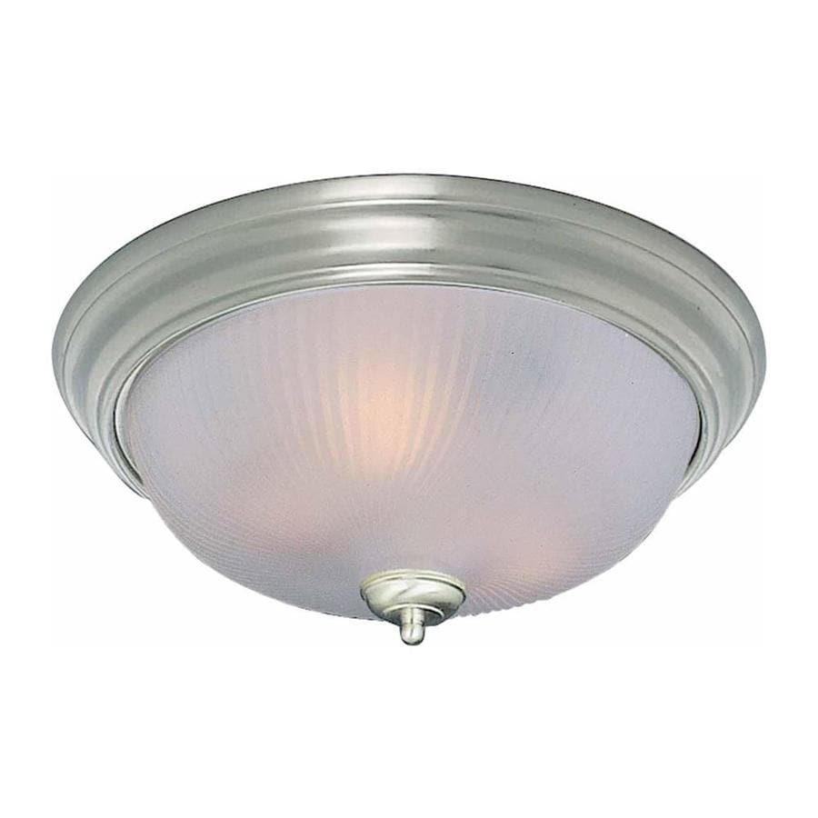 Bowden 13-in W Brushed Nickel Flush Mount Light