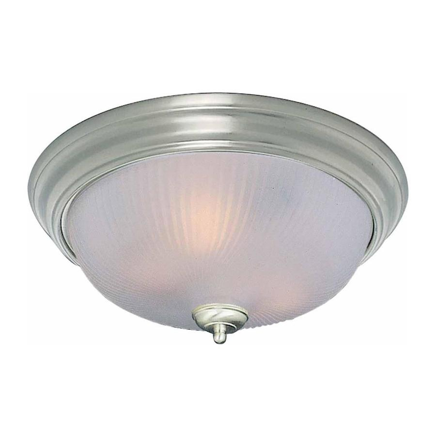 Bowden 15-in W Brushed Nickel Flush Mount Light