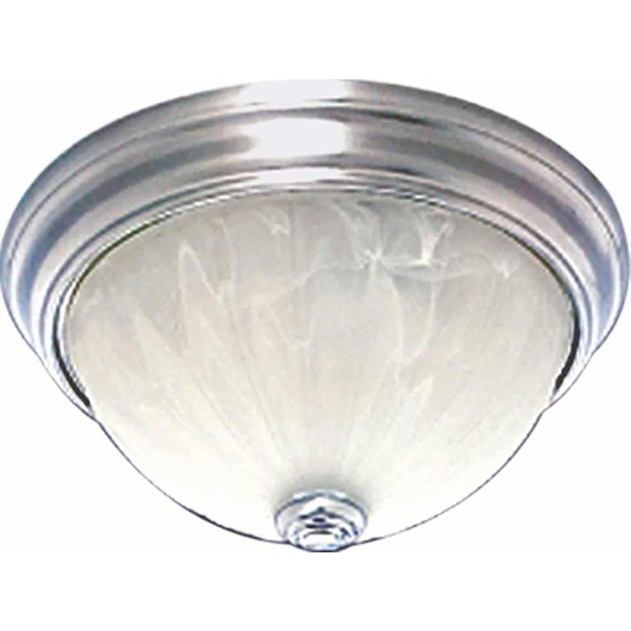 Laconia 13-in W Brushed Nickel Flush Mount Light