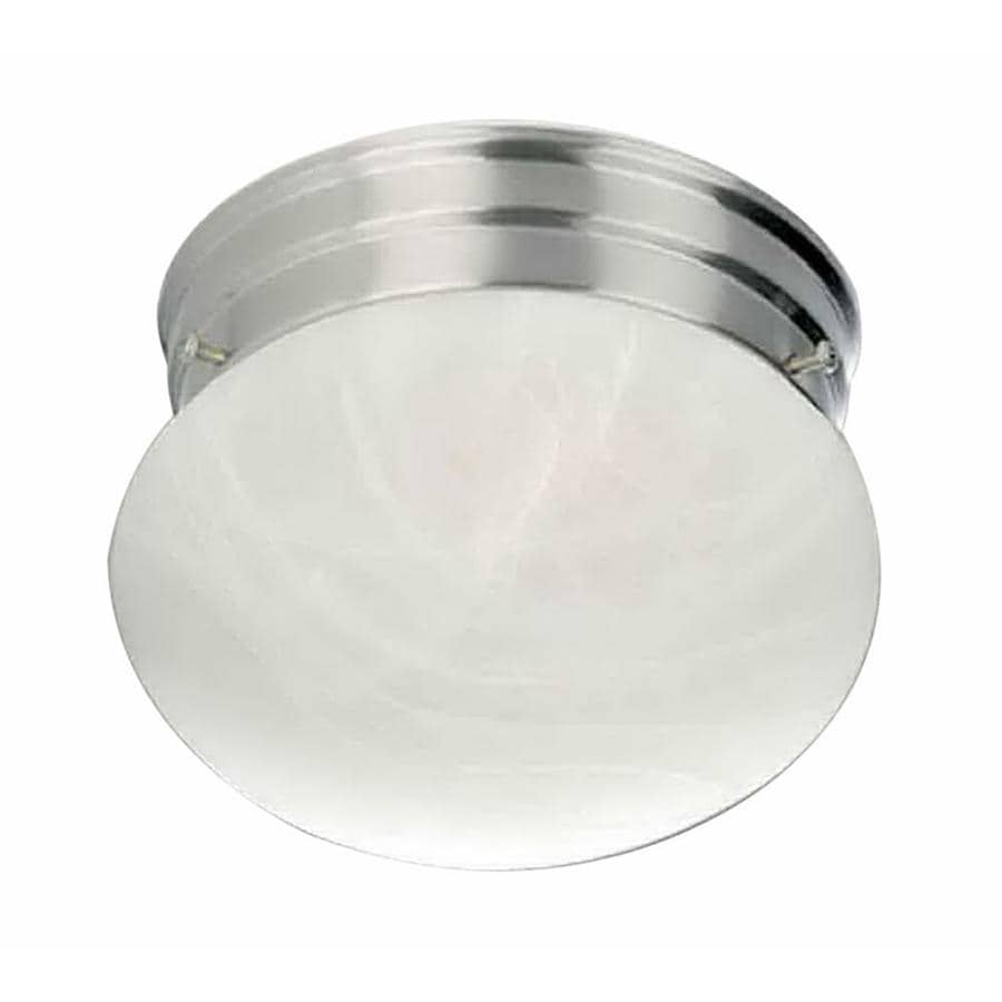 Lavelle 9-in W Brushed Nickel Ceiling Flush Mount Light