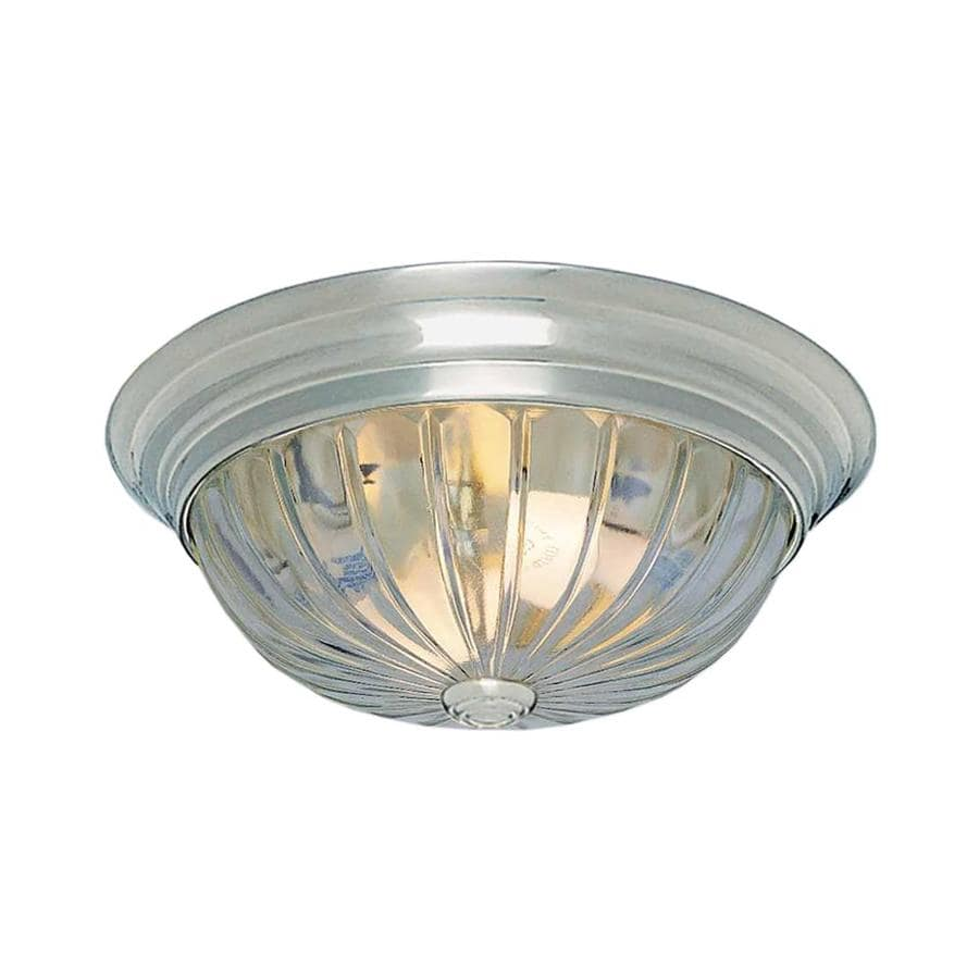 Shop Creola 13 In W Brushed Nickel Flush Mount Light At