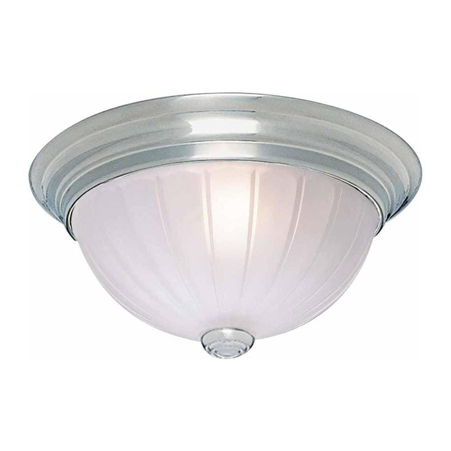 Milroy 11-in W Brushed Nickel Standard Flush Mount Light