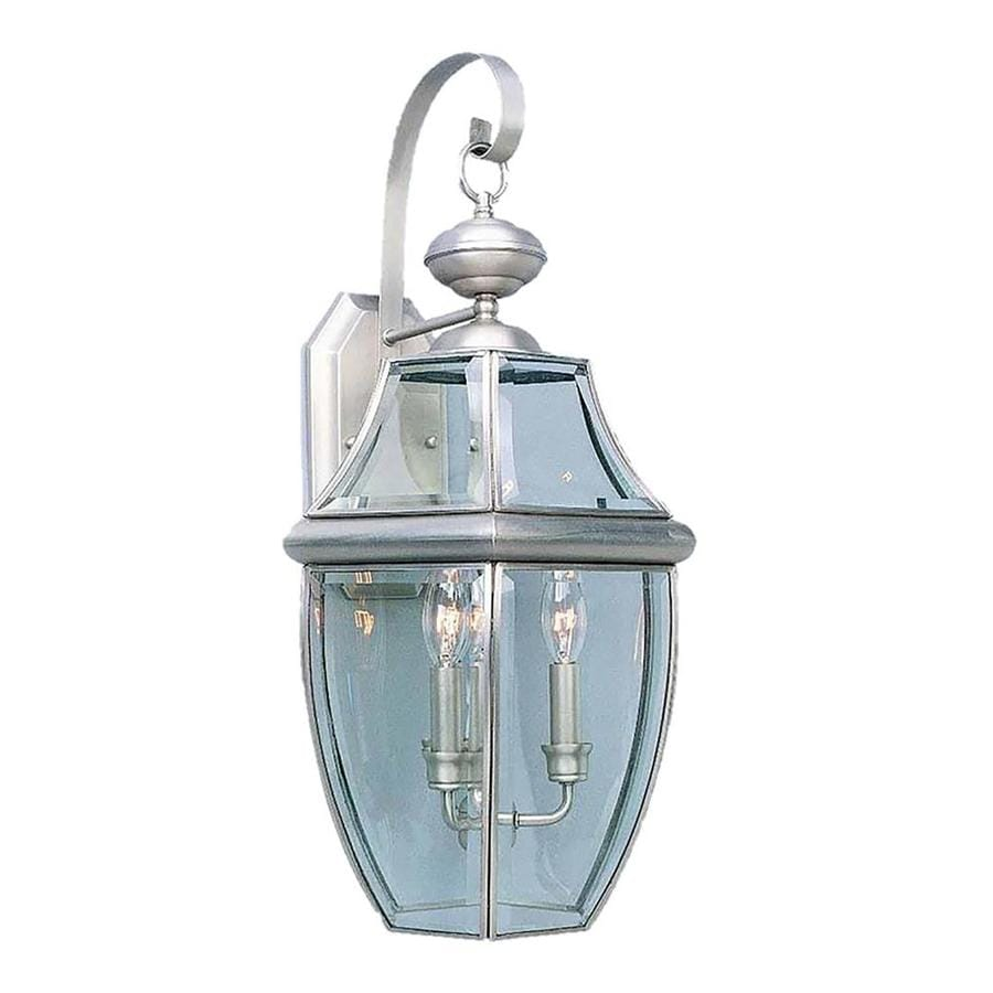 Shop Barco 24.75-in H Brushed Nickel Outdoor Wall Light at Lowes.com