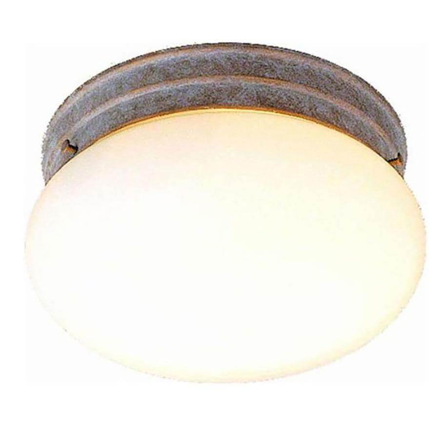 Glynn 9-in W Prairie Rock Ceiling Flush Mount Light
