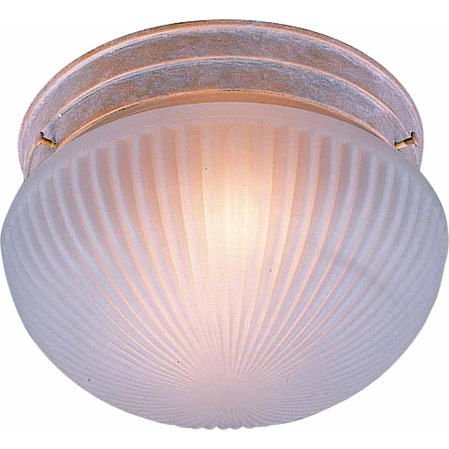 Bowden 9-in W Prairie Rock Standard Flush Mount Light