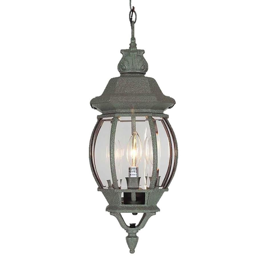 Orlinda 22-in Mottled Verde Green Outdoor Pendant Light