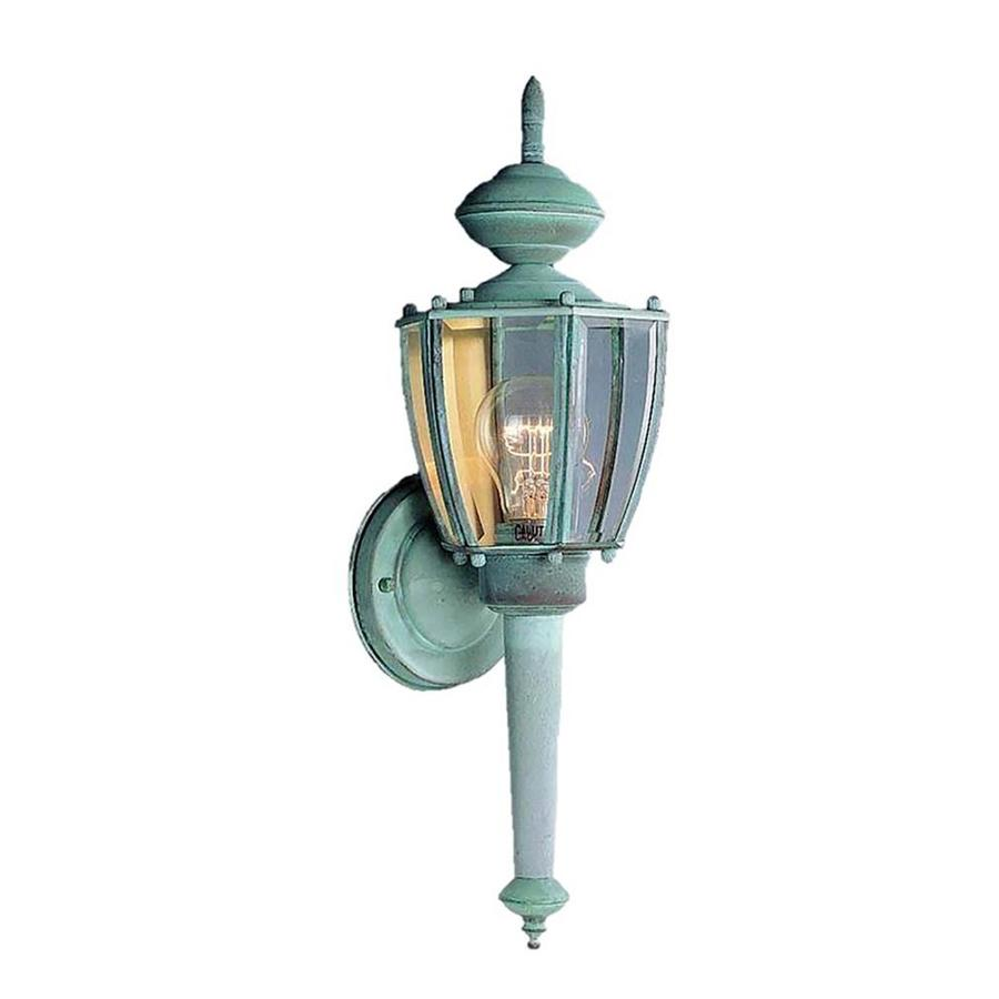 Desmet 18.25-in H Verde Green Outdoor Wall Light