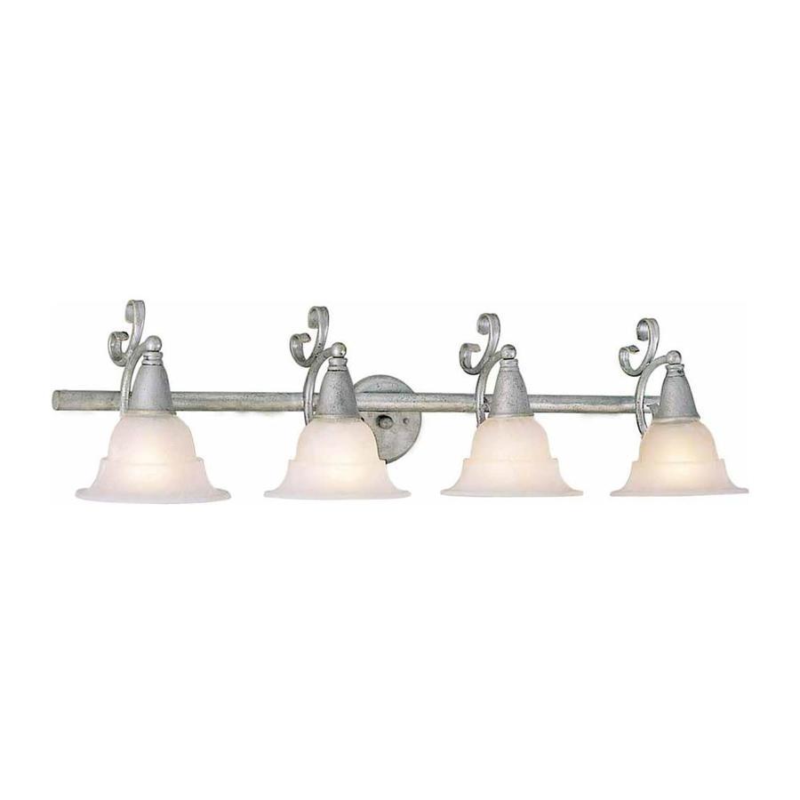 Fabens 4-Light 11-in Platinum Rust Vanity Light
